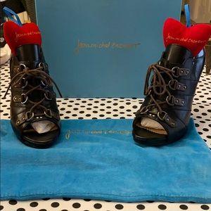 Jean Michel Cazabat Black Leather Olga Hee…